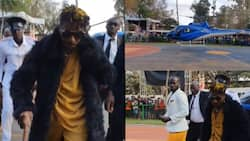 """Eric Omondi Majestically Arrives at Luo Festival in Chopper: """"Luo Experience"""""""