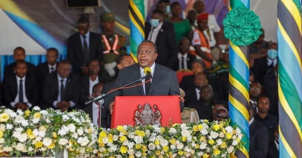 Uhuru Cheered for Pausing Speech During Magufuli's Funeral Service to Honour Muslim Prayer Call