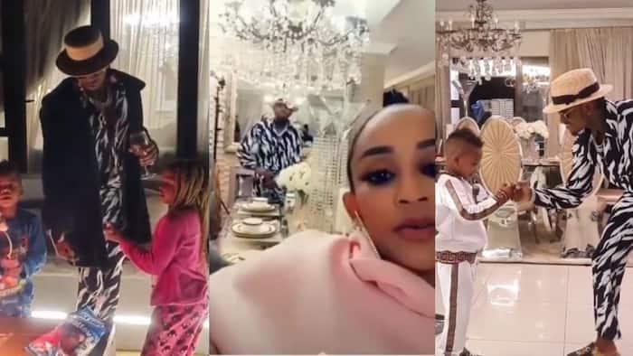 South Africa: Diamond Platnumz Enjoys Night Time with Tiffah and Nillan at Zari's House