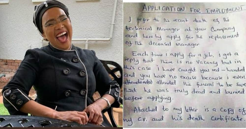 South Africans are showing their humour as they react to a cover letter on social media. Image: @ChristoThurston/Twitter