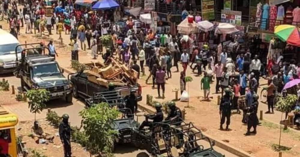 Uganda's opposition leader Bobi Wine arrested during protest