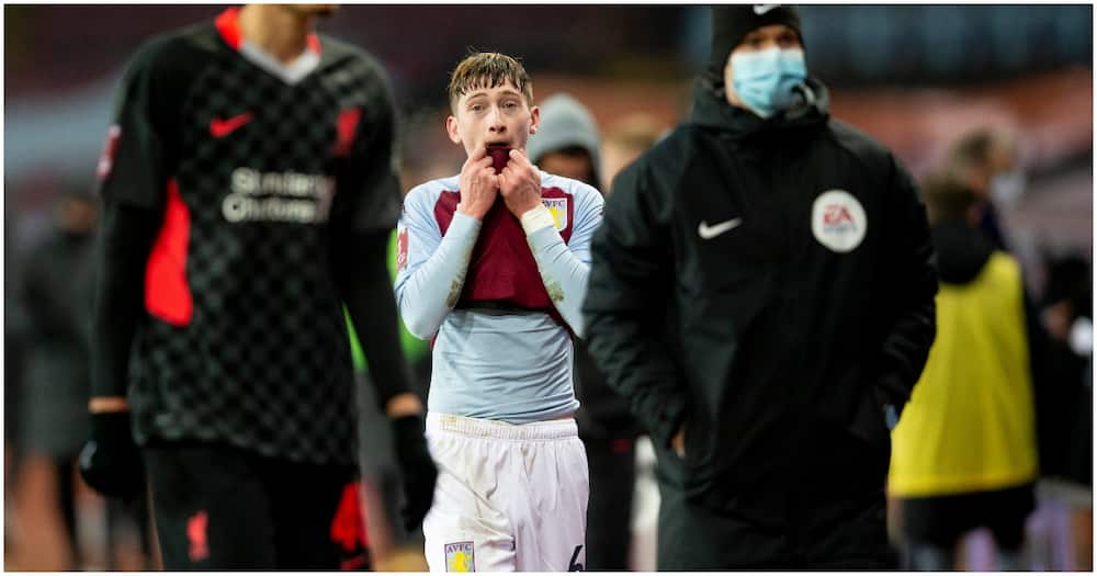 Aston Villa youngster trades shirts with Fabinho only to take it back moments later