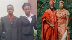 Lady Marries Her Secondary School Classmate after 17 Years, Shares Their 2004 Graduation Photos