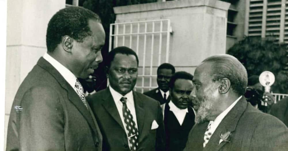 Daniel Moi and Jomo Kenyatta: Photo: OPLM Kenya.