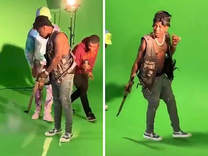 Rapper accidentally fires gun during music video filming