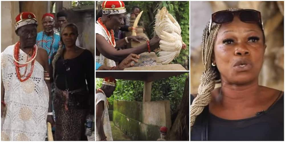 Reactions as Nigerian prayer warrior who dumped Christianity to marry a native doctor opens up on her experience.