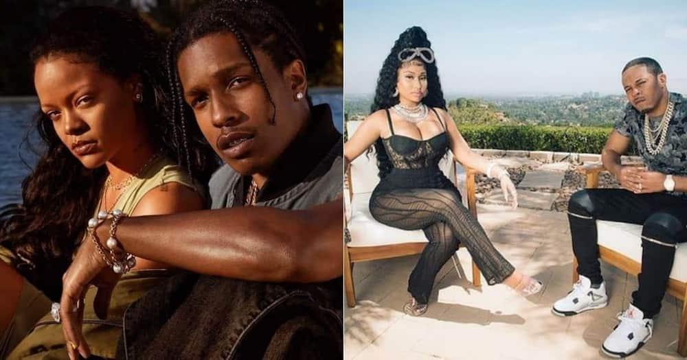 Nicki Minaj, Rihanna, hang out, ASAP Rocky.