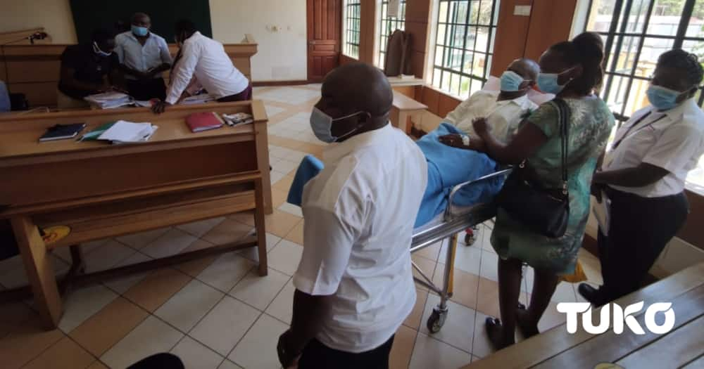 Vihiga County Official Put on Ambulance, Wheeled Into Court to Explain Non-payment of Contractor
