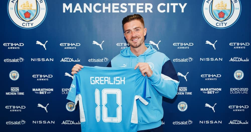 Grealish in Man City colours.
