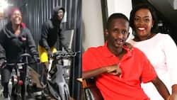 Njugush, Wife Wakavinye Amuse Fans with Rigorous Workout Together