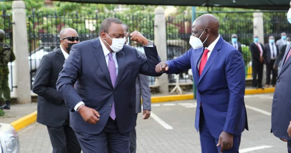 William Ruto, Uhuru Kenyatta Meet During National Prayer Breakfast at Parliament