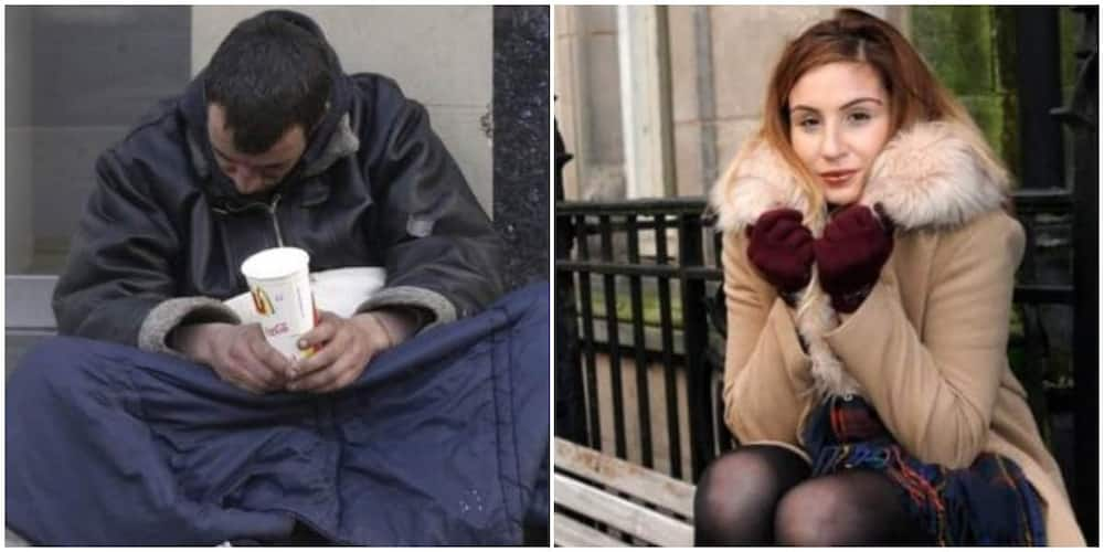 Homeless man helps stranded university student with his last N1706, she raises N26m for him in appreciation.