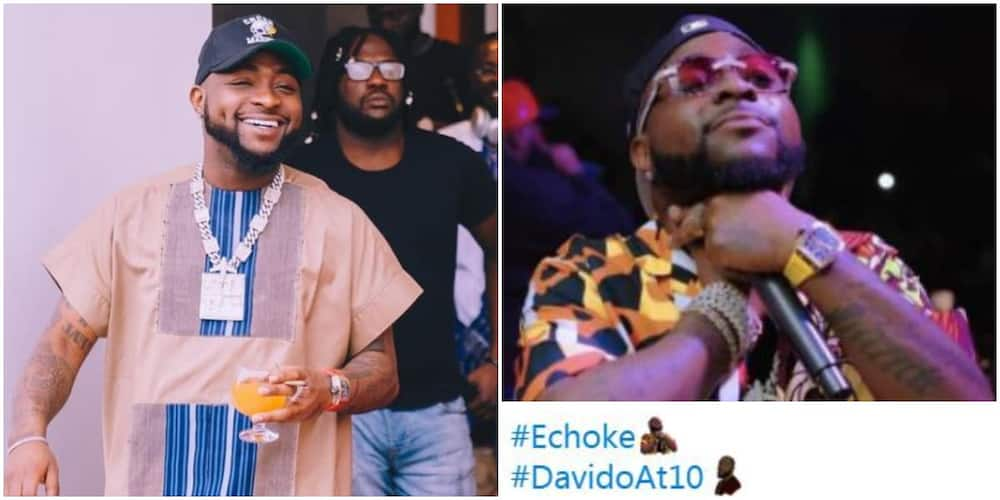 Davido at 10: Once Again Twitter Celebrates Singer With Customised Emoji to Mark His Years in the Industry