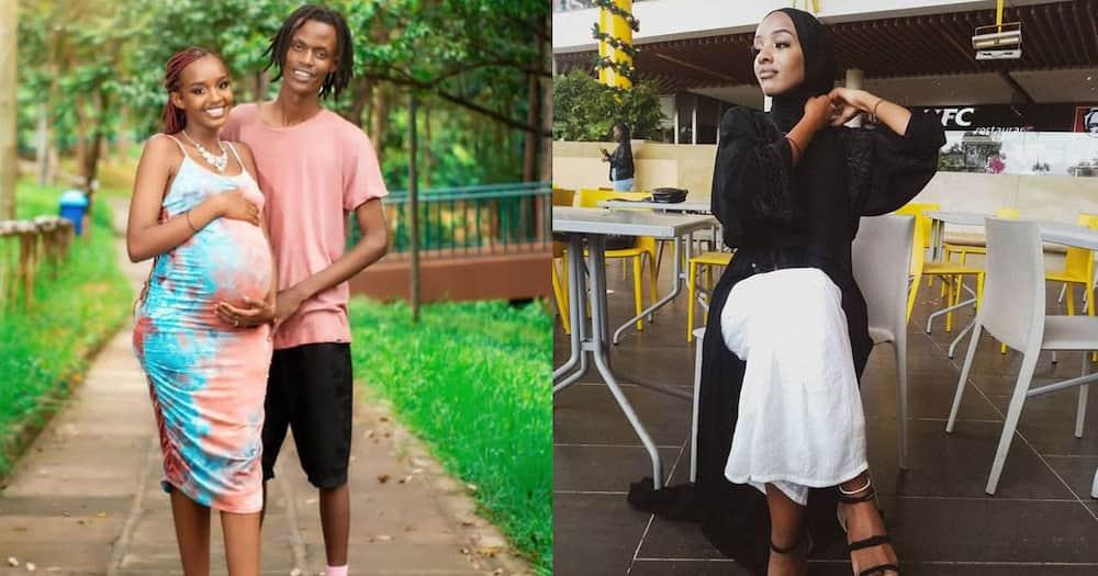 Aisha and lover Mungai Mbaya.