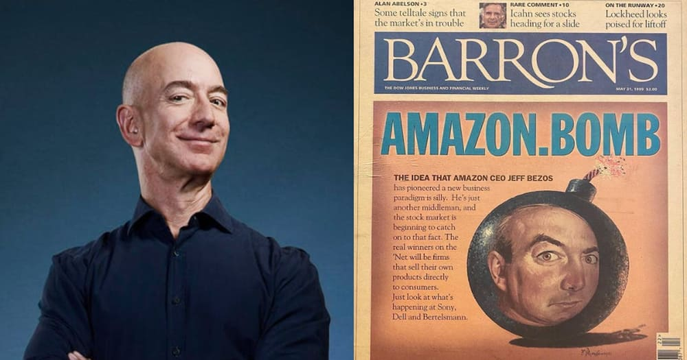 """Jeff Bezos Shares Old Article Predicting Amazon Would Fail: """"Don't Let Them  Tell You Who You Are"""" - Gazeti App"""