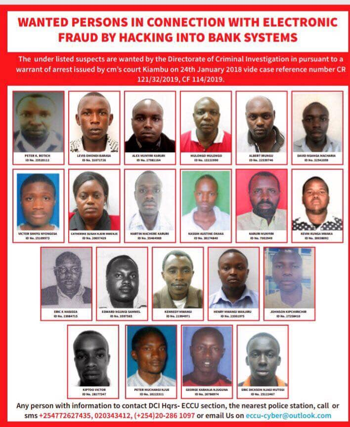 dda55d4a5dee1829 - List of Top bank hackers in Kenya wanted by the DCI