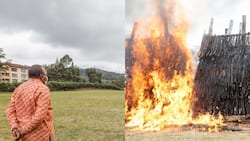 Uhuru Kenyatta Torches 5,144 Illicit Small Arms, Light Weapons