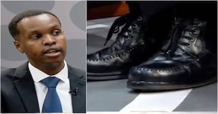 Ex-minister's son Alex Kosgey and his shoes steal show during heated TV debate
