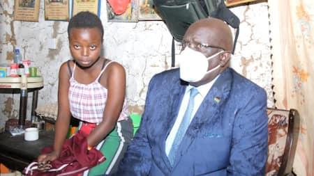 Mombasa: CS Magoha Visits KCPE Top Performers Living In Slums, Guarantees Them Scholarships