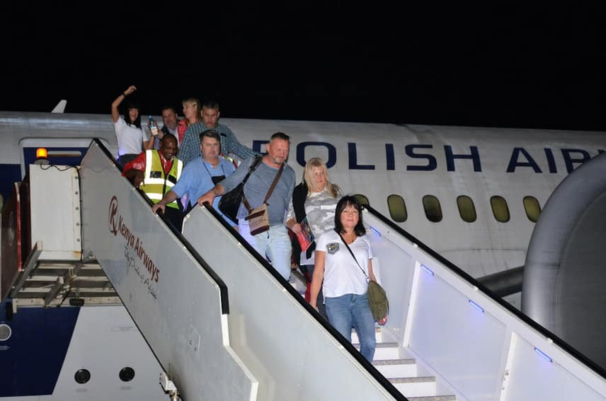 Over 250 tourists land in Mombasa from Poland