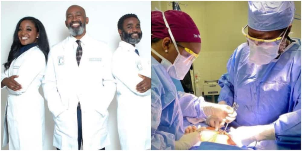 Brother and sister who are surgeons operate on a patient together