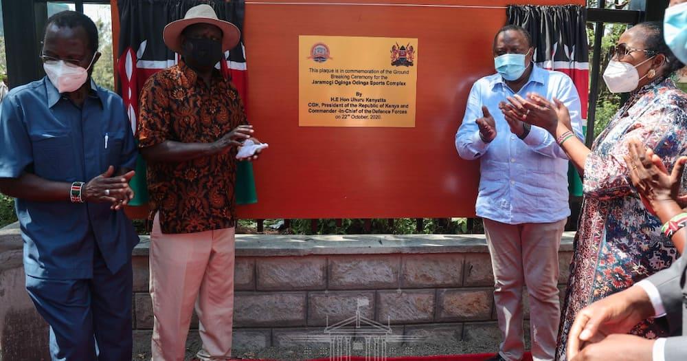 Uhuru announces Jomo Kenyatta Sports Ground to be renamed Jaramogi Oginga Odinga Sports Ground
