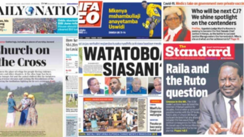Newspaper Review For April 5: Mudavadi and Ruto Scramble For Raila