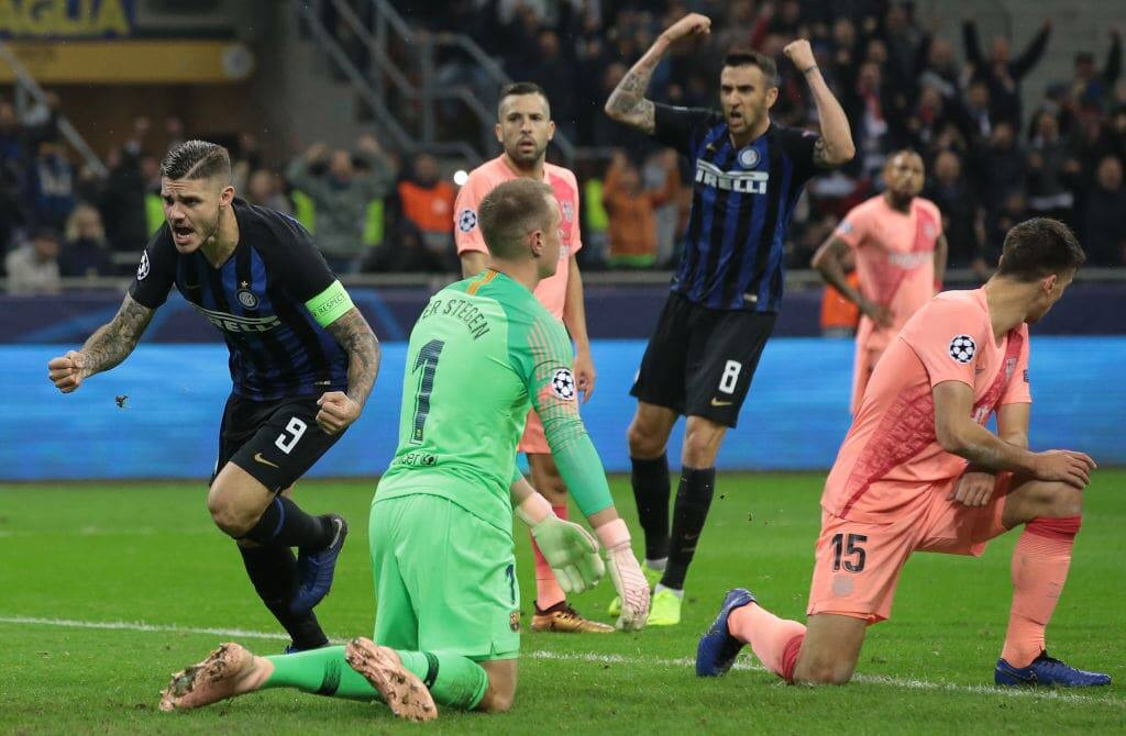 Icardi scores late to rescue Inter Milan from losing to Barcelona