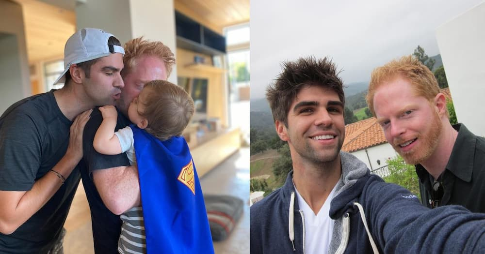 Actor Jesse Tyler and husband Justin Mikita.