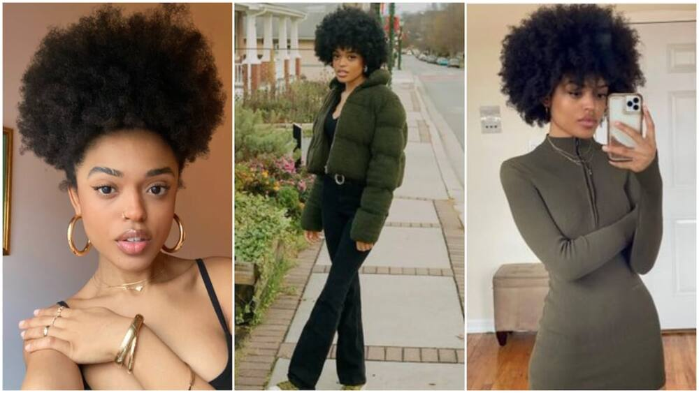 Beautiful lady rocks natural hair, her photos go viral, get people talking