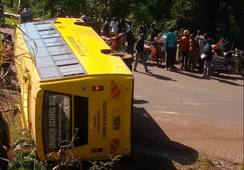 Meru: School bus overturns along Meru-Kaaga bypass, at least 26 pupils injured