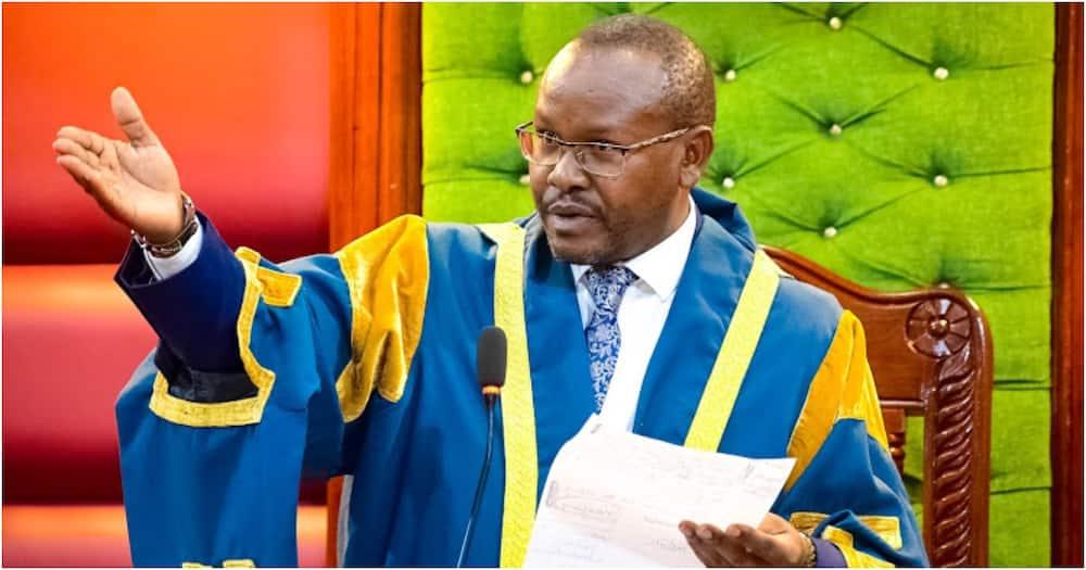 Nyandarua County Assembly Speaker Ndegwa Wahome. Photo: Nyandarua County Assembly