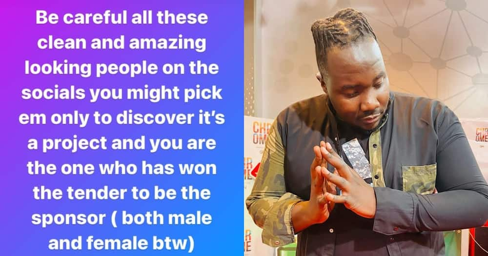TV talk show host Willis Raburu. Photo: Willis Raburu.