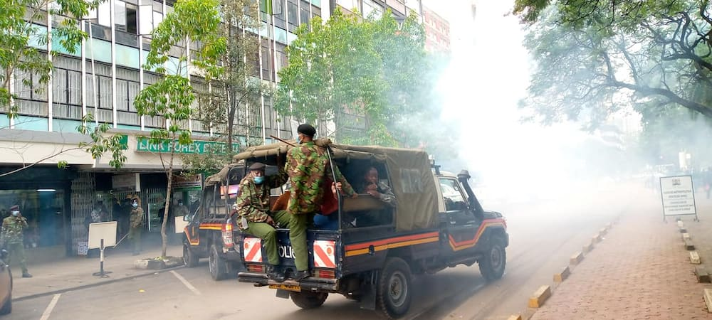 Kenyan human rights activists arrested for protesting over Uganda elections