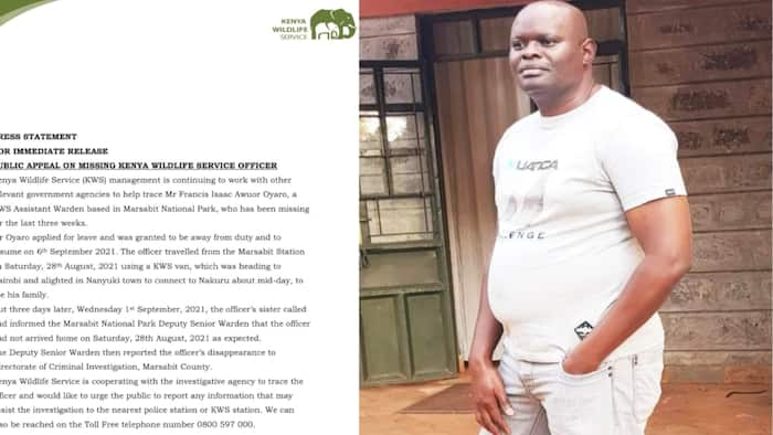 KWS Requests Public Help in Search For Marsabit Warden Who Disappeared 3 Weeks Ago