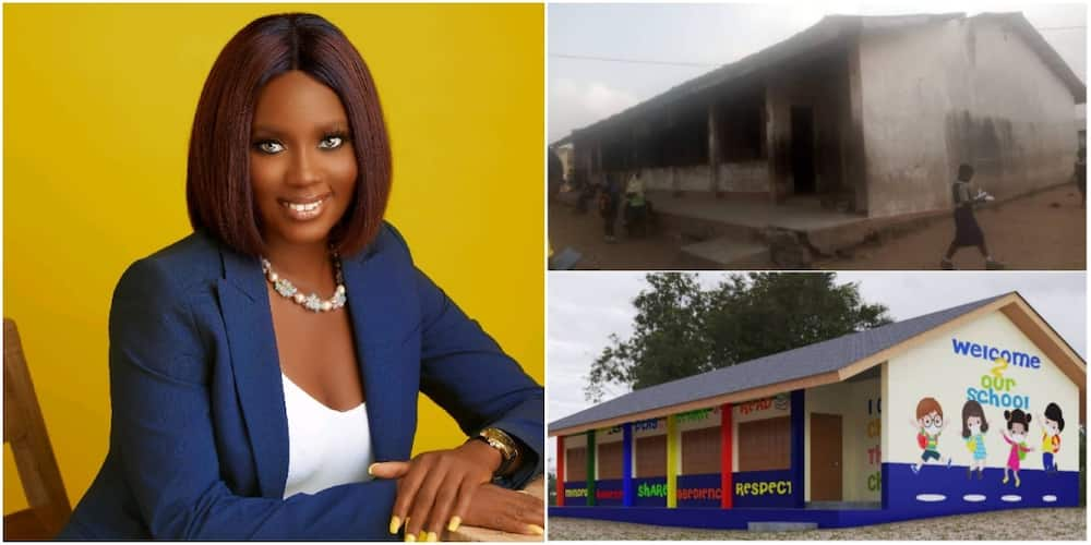 Meet lady who paints school for student to learn in beautiful environment