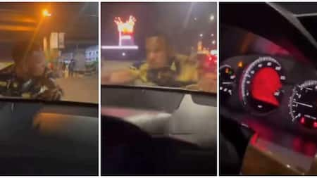 Man Hangs on to Bonnet of Moving Car Because Lady Refused to Give Him Cash