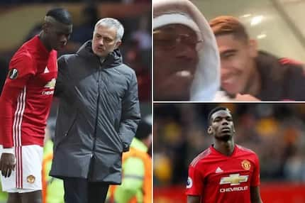Pogba celebrated Mourinho's sacking at Man United with high-fives in the dressing room