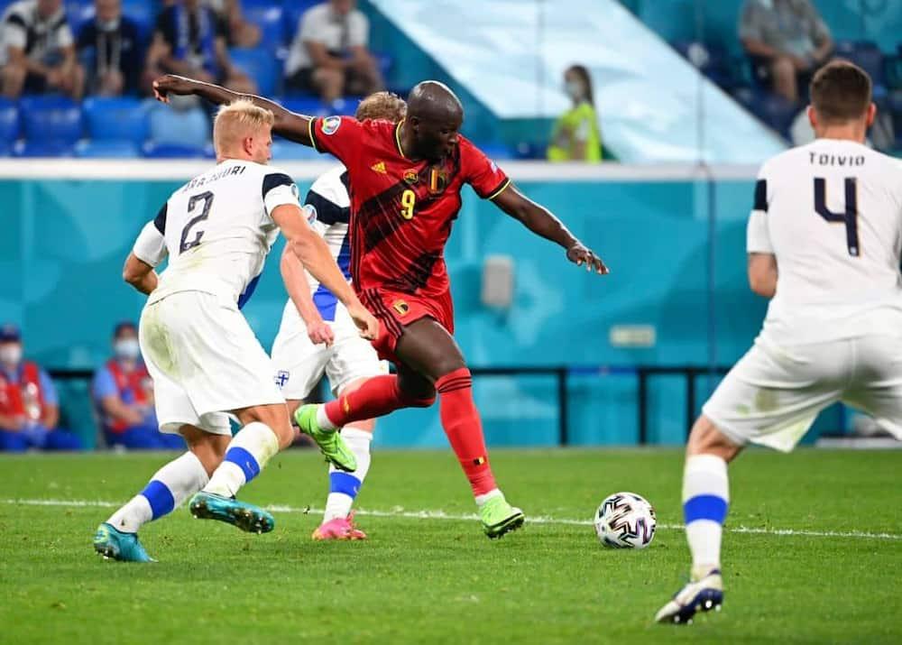 Romelu Lukaku in action for Belgium
