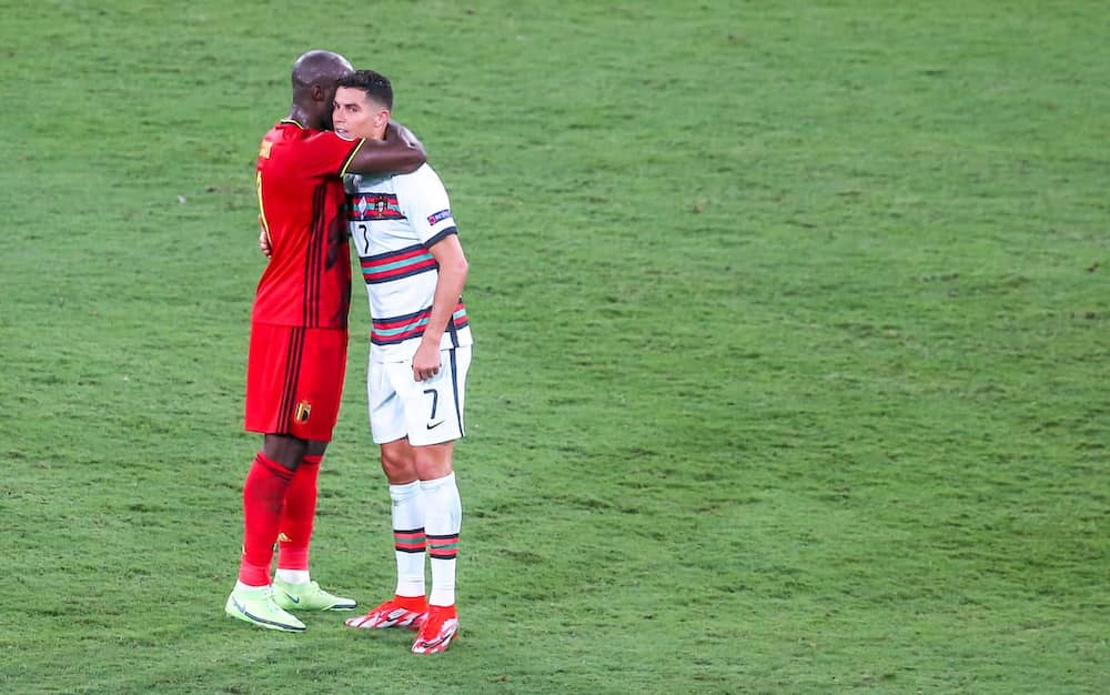 Romelu Lukaku and Lukaku during the Euros. Photo: Getty Images.