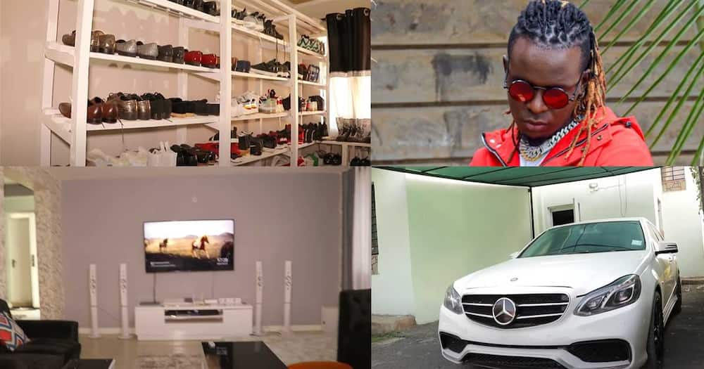 Inside Willy Paul's house.