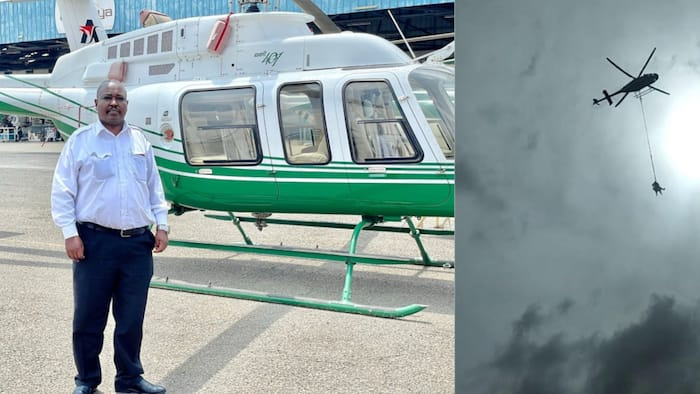 Meet Retired KDF Officer Alex Koech Who Flies Choppers for Kenya Power to Repair Outages