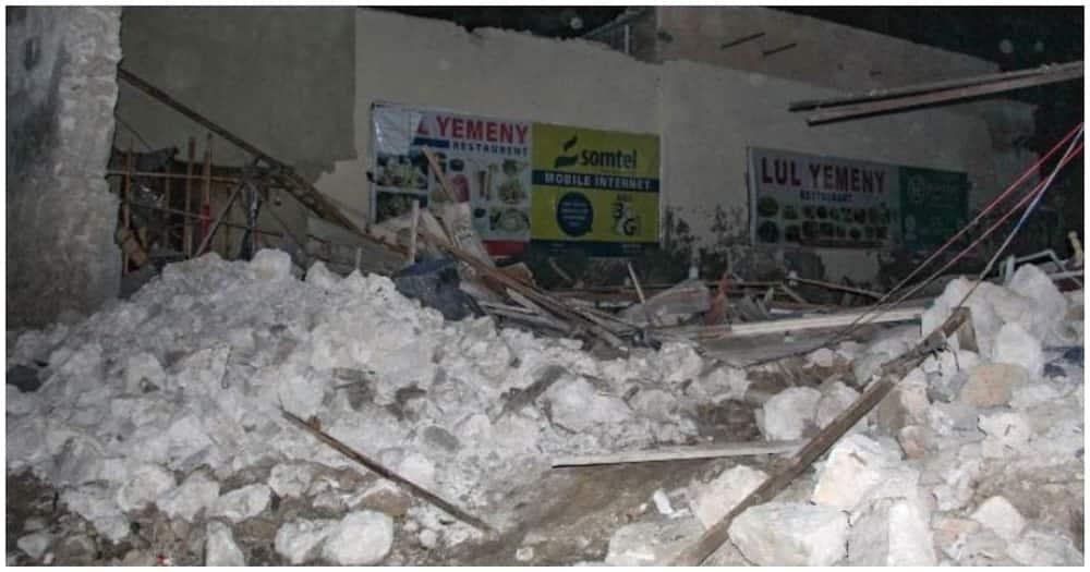 Damages at the scene of the blast in Somalia's capital Mogadishu. Photo: CNN
