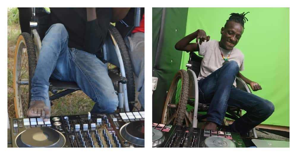 DJ Skylla: Physically Impaired Deejay Who Operates Turntable with Toes