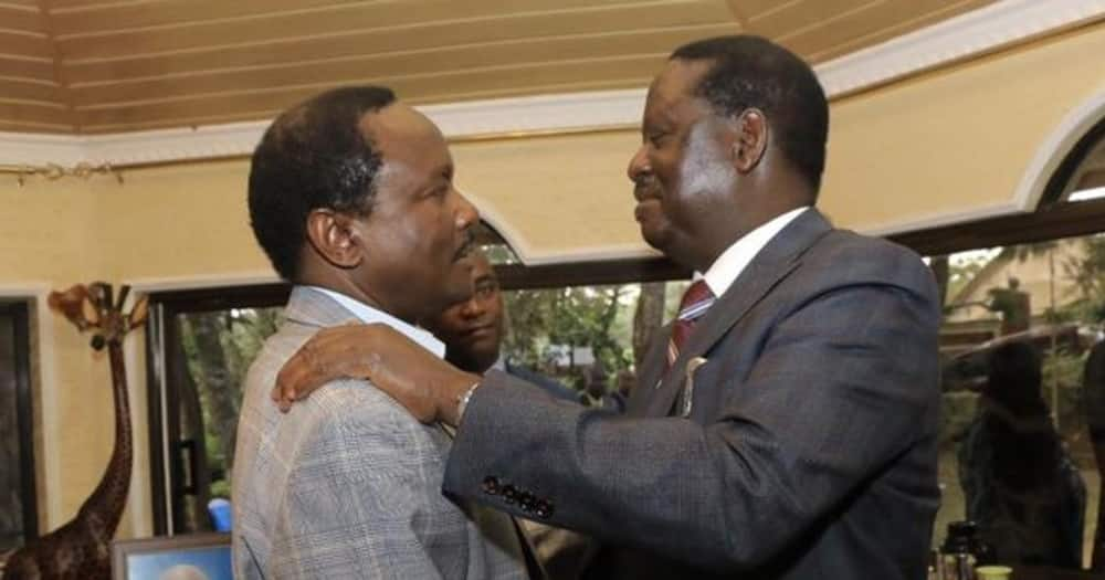 Wiper party leader Kalonzo Musyoka (l) and his ODM counterpart Raila Odinga. Photo: Raila Odinga.