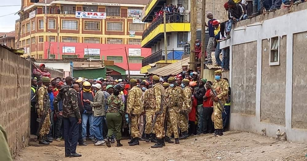 KWS officers in Rongai. Photo: KWS.
