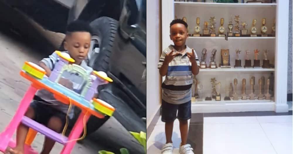 Diamond Platnumz reunites with Hamisa Mobetto's cute son Dylan
