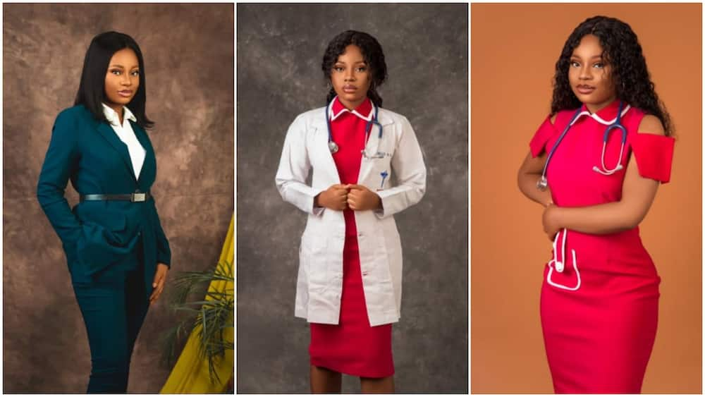 Cute Nigerian lady becomes doctor, men 'ask' for her hand in marriage