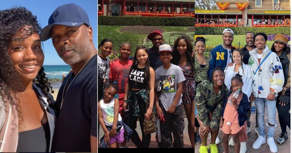 Jakes Roberts Sarah, her husband Touré Roberts and stepchildren.