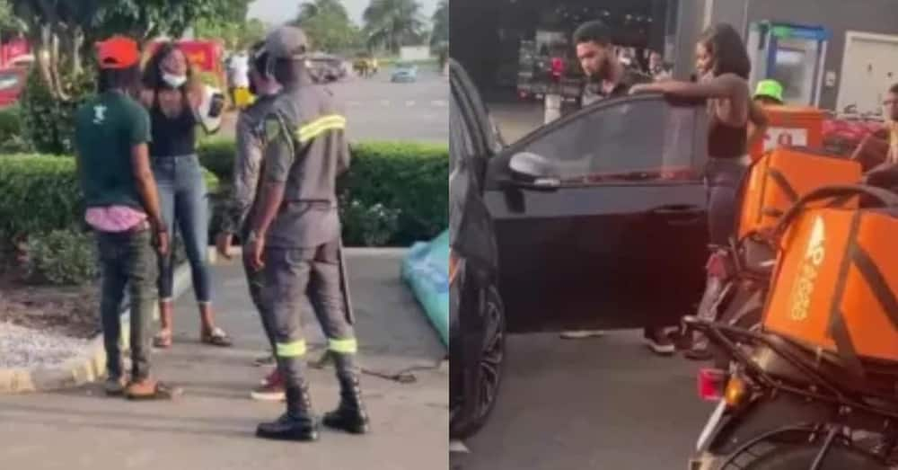 Lady grabs man at Accra mall after he refused to pay her money